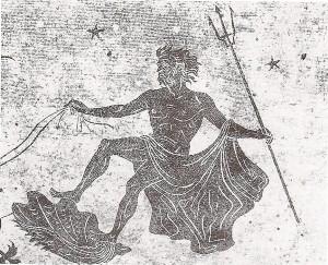 A. Capizzano, Mediterraneo, particolare del mosaico