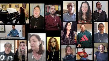 GIORNALISTI CALABRESI UNITI NEL CANTO. Un coro virtuale per ringraziare i colleghi impegnati sul campo a raccontare l'emergenza Covid