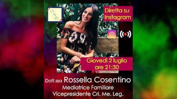 LA MEDIAZIONE FAMILIARE COME CULTURA POSITIVA DEL  CONFLITTO | Video intervista alla dottor.ssa Rossella Cosentino, Vicepresidente dell'Associazione Cri. Me. Leg.